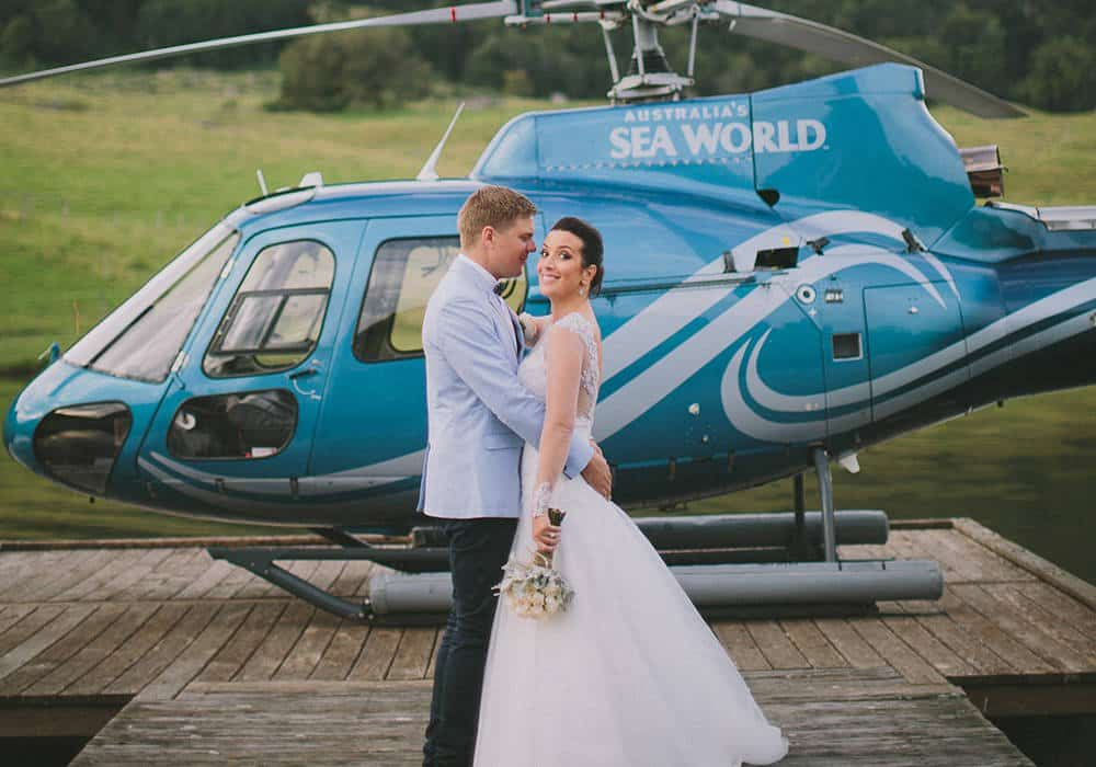 Helicopter wedding charter
