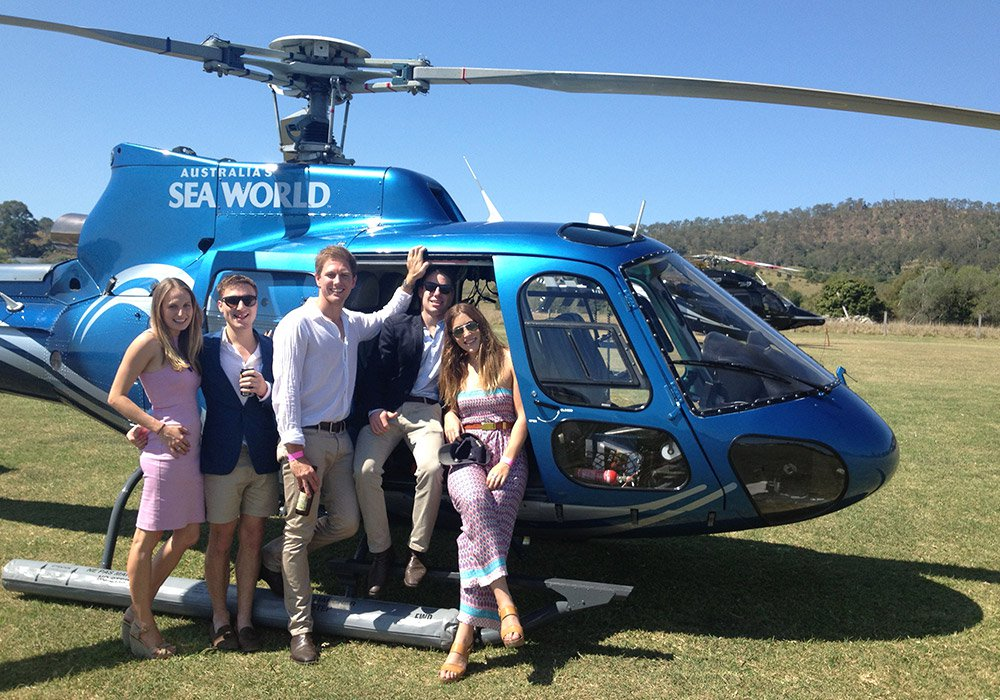 Helicopter Tour to winery