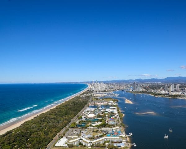 Burleigh Heads & South Stradbroke Scenic Helicopter Tour