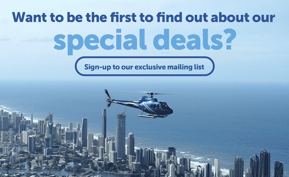 Sea World Helicopter - Website Pop-up